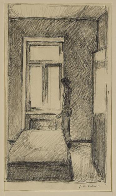 philipp christoph haas | studie zur serie 'interieur', bleistift auf papier, 2013