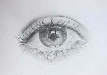 Juli 2018 Cornelius »Auge« Bleistift 29,7 x 42 cm