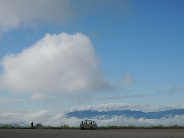 雲と同じ高さ。何かいい感じです(笑)