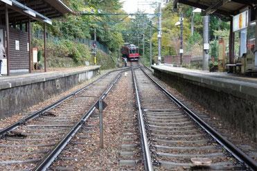 箱根登山鉄道に乗りました。スイッチバック初体験!