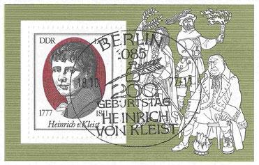 Kleist-Gedenkmarke der DDR 1977