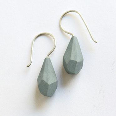 porseleinen oorbellen grijs, porseleinen sieraden