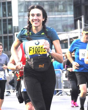 Irena Schuldt beim Berlin-Marathon 2015