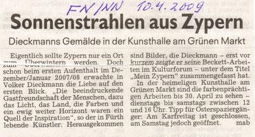 Fürther Nachrichten (Kultur) vom 10.4.2009