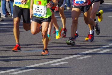 Laufwettkampf Marathontraining