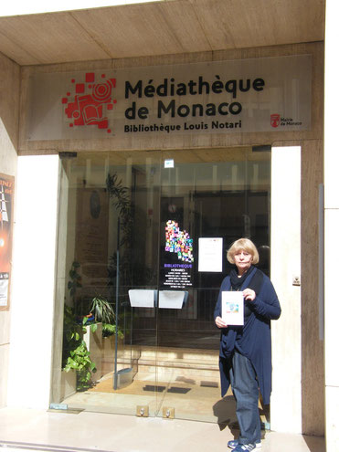 Delivering the book to the library of Monaco-Montecarlo, April 30 2014
