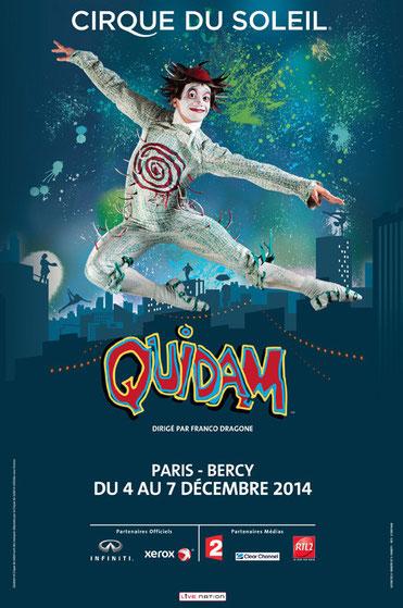 cirque du soleil QUIDAM BERCY 2014