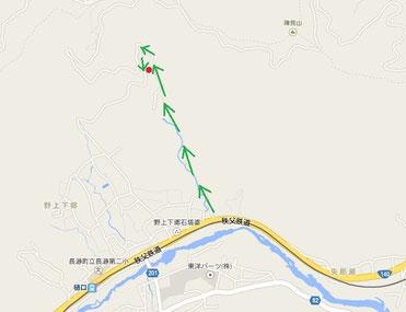 「秩父長瀞Yoshi Studio」のアクセスマップ
