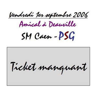 Ticket  Caen-PSG  2006-07