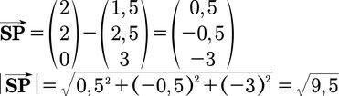 Lösung des Beispiels zur Berechnung des Abstands von einer Gerade und einem Punkt