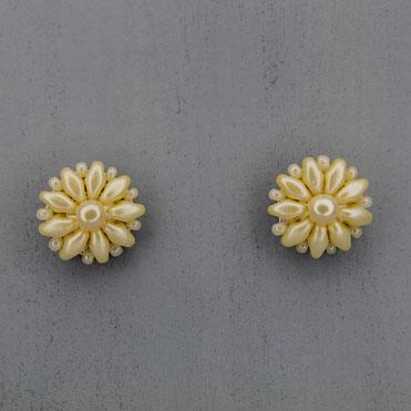 Ohrringe perlenfarben Duo Rocailles