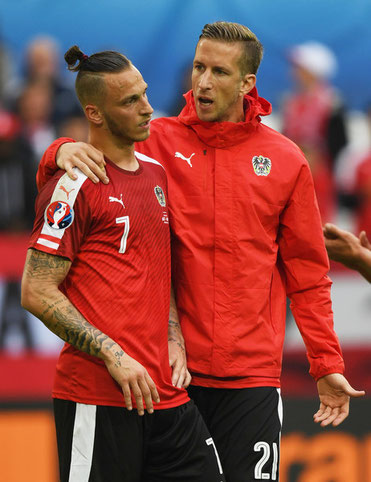 Marc Janko und Marko Arnautovic UEFA Euro 2016 in Frankreich