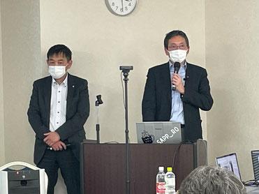 ビレッジハウス・マネジメント株式会社 北海道支社長の中本篤司 さんと大熊さん