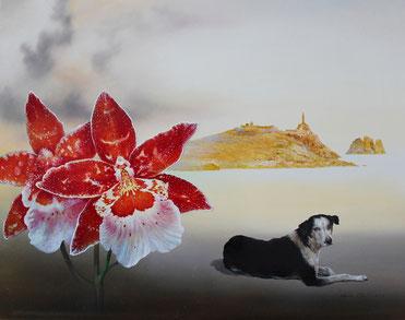 Chef, Genia, Am Rande der Welt, 40 x 50 cm, Öl auf Holz, 2014