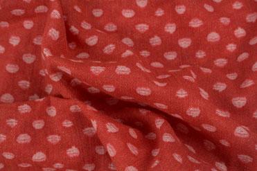 Schal rot mit weißen Punkten