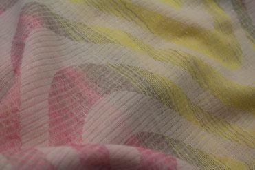 Jacquard Tuch gelb rosa