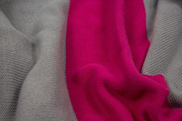 Wendeschal Strick Pink/Grau