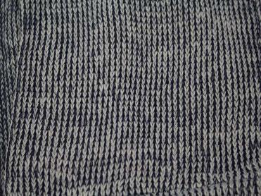 Strick Loop grau-blau meliert