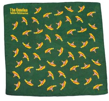 The Beatles Yellow Submarine Einstecktuch grün