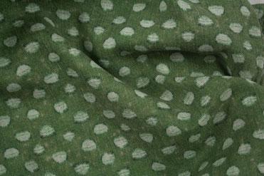 Schal olivgruen mit Punkten
