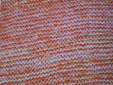 Damen Strickschals rosa-orange, meliert