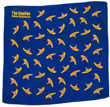 The Beatles Yellow Submarine Einstecktuch blau