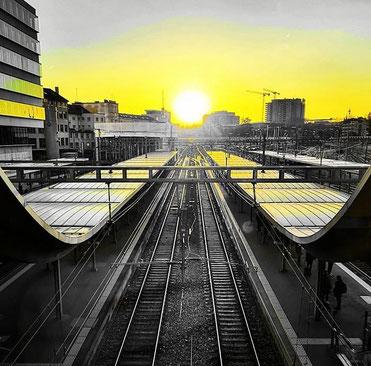 Bahnhof Bern BSC Young Boys by _bernstagram_Fotograf: @grobkenner