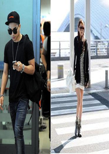 Taeyang a la izquierda, a la derecha Uee