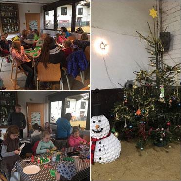 Wie in jedem Jahr waren die Kinder fleißig und haben großartigen Weihnachtsschmuck gebastelt!