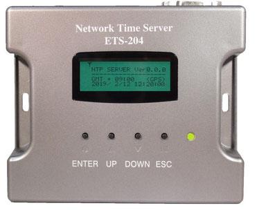 小型GPS/GLONASS NTPタイムサーバー ETS-204(G3)製品前面写真