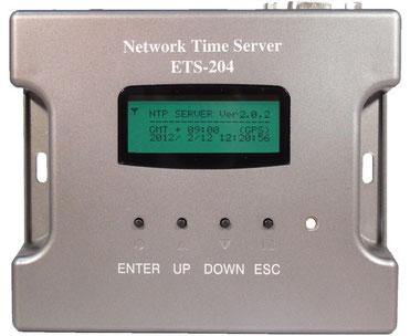 電波時計・GPS NTPサーバー ETS-204(V2)製品前面写真