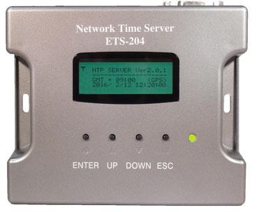 GPS NTPタイムサーバー ETS-204(G2)製品前面写真