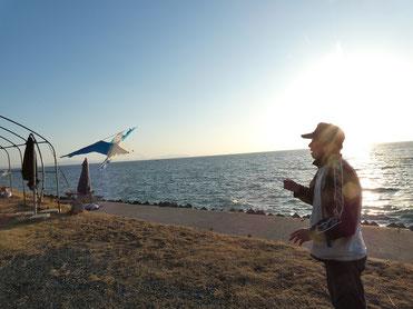 BOSSのお知合いのHMDさんがカモメの凧を!