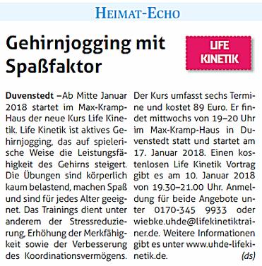 Life Kinetik in Hamburg Duvenstedt