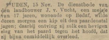 Provinciale Noordbrabantsche en 's Hertogenbossche courant 17-11-1911