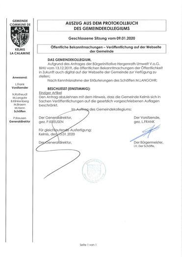 Kelmis, La Calamine, Gemeinde Kelmis, Transparenz, Völkersberg, Luc Frank, Bürgermeister Kelmis, Bürgermeister L a Calamine