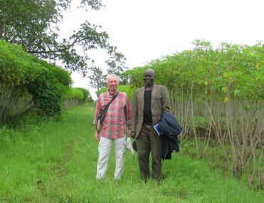 Visita alla coltivazione di cassava da prendere in carico