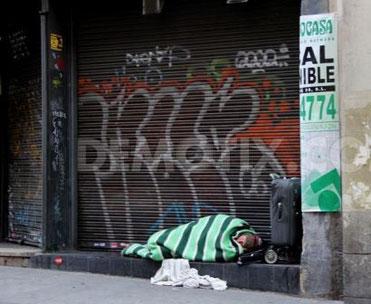 Boligløs i Madrid