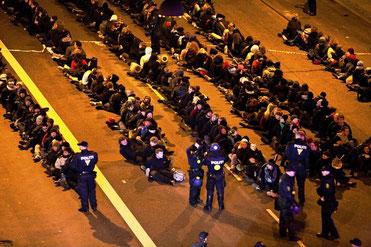 Masseanholdelse under klimatopmøde i København dec 2009
