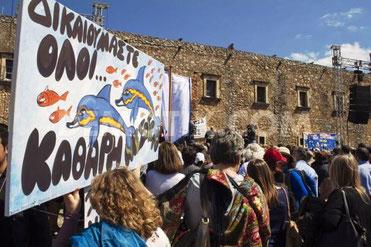Lokale protester på Kreta
