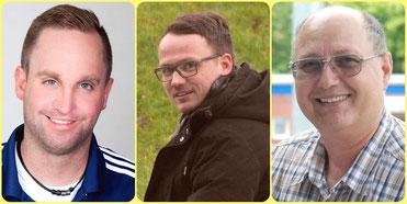 Michael Zuidema, Henning Baumann und Dragan Brala.