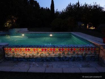 Débordement de piscine en mosaïque - Aix-en-Provence