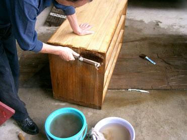 桐たんす修理洗い