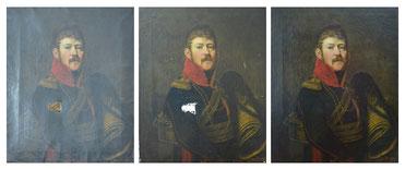 Herrenporträt Restaurierung