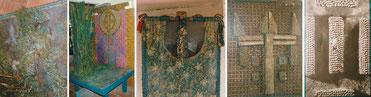 Subcourants et algues, voûte étoilée, croix celtique et armorial du Verdon
