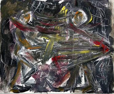 expressive realistische Malerei eines toedlichen Kampfes