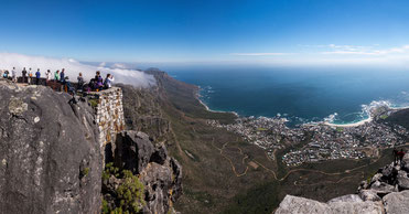 Table mountain with scenic view on Cape Town