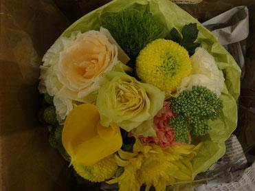 夏らしいお花、ありがとうございます~!