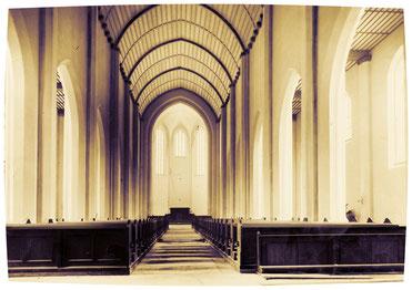 Andräkirche während des Wiederaufbaus