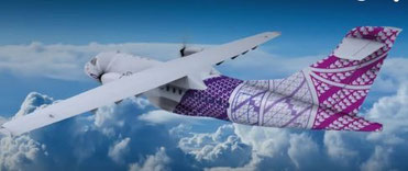 The future Ohana ATR 72 operated freighters will display the colorful design of the Hawaiian carrier as do their passenger aircraft  /  courtesy Ohana